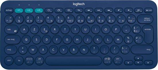Logitech K380 MultiDevice Bluetooth Toetsenbord Blauw - Azerty