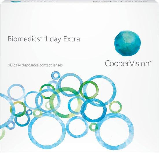 Biomedics 1 Day Extra - 90 stuks -  S -0,25 - daglenzen - contactlenzen