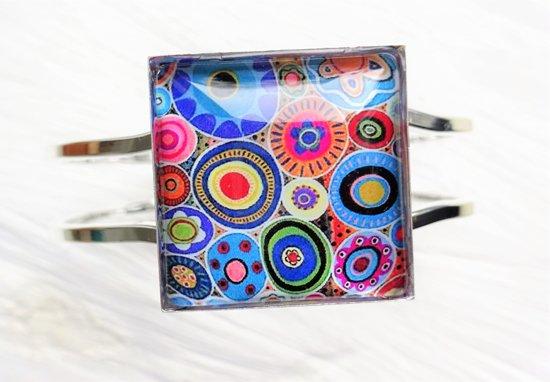 2 Love it RetroCirkel F - Armband - scharniersysteem - Multicolor