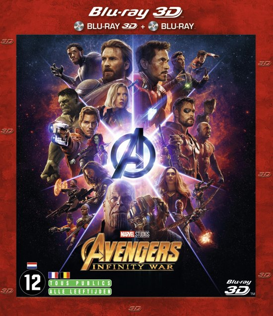 DVD cover van The Avengers: Infinity War (3D Blu-ray)