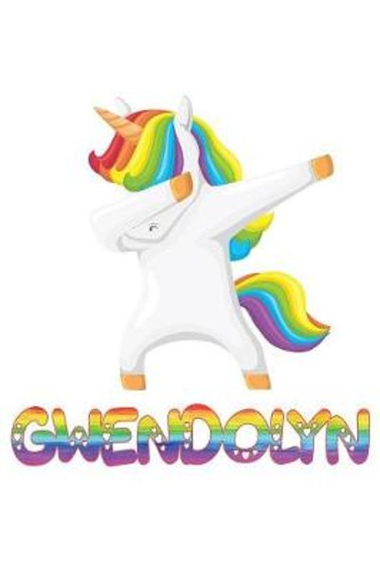 gwendolyn: gwendolyn 6x9 Journal Notebook Dabbing Unicorn Rainbow