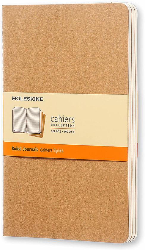 Moleskine Set of 3 Ruled Cahier Journals Kraft Large