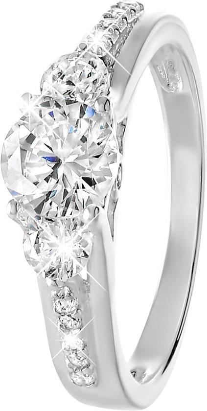 Lucardi - Zilveren ring zirkonia