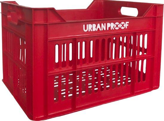 URBAN PROOF Fietskrat - 30 l - Rood