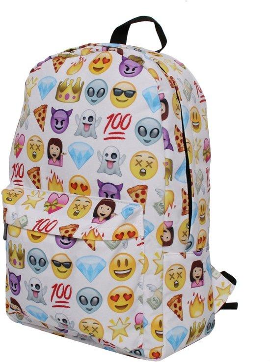 129ed0dc88a Witte Prinses Emoji Rugtas - 20 Liter - Hippe Rugzak voor de Basisschool