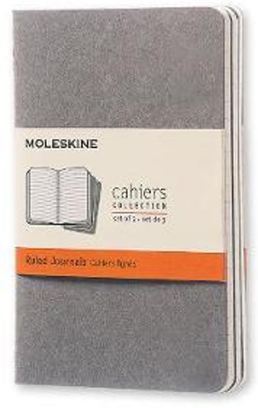 Moleskine Set of 3 Ruled Cahier Journals Light Warm Grey Pocket