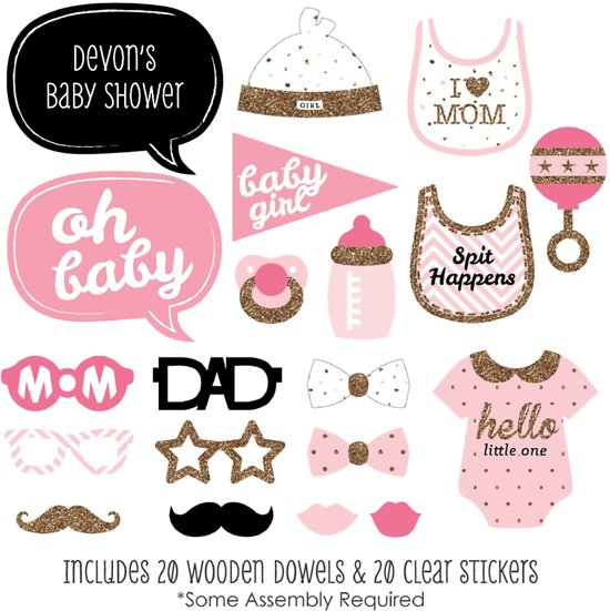 Bolcom Babyshower Girl Meisje Photobooth Prop Set Fordig