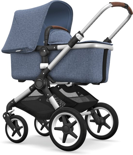 Bugaboo Fox Kinderwagen - Aluminium / Gemêleerd Blauw