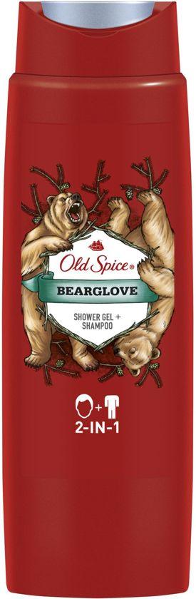 Old Spice Bearglove Hair&Body - Voordeelverpakking 6x250ml - Douchegel en Shampoo