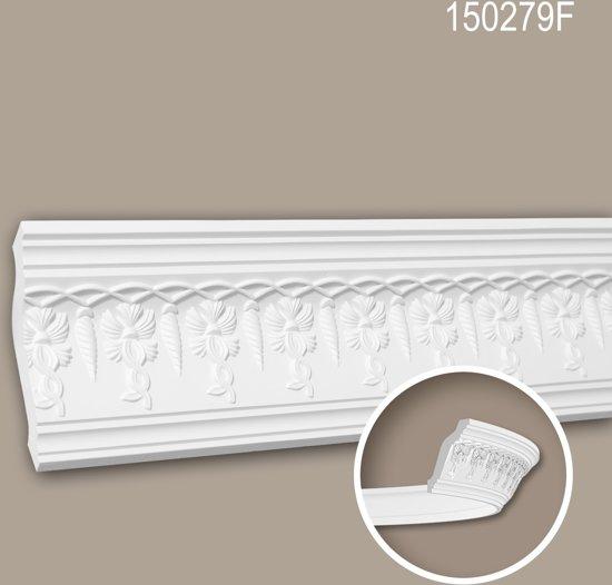 Kroonlijst 150279F Profhome Lijstwerk flexibele lijst Sierlijst neo-empire stijl wit 2 m