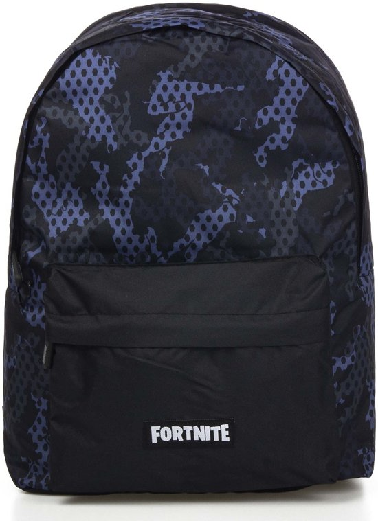 Fortnite rugzak camouflage blauw / zwart