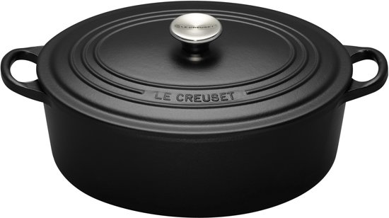 le creuset tradition braadpan ovaal 29 cm zwart. Black Bedroom Furniture Sets. Home Design Ideas
