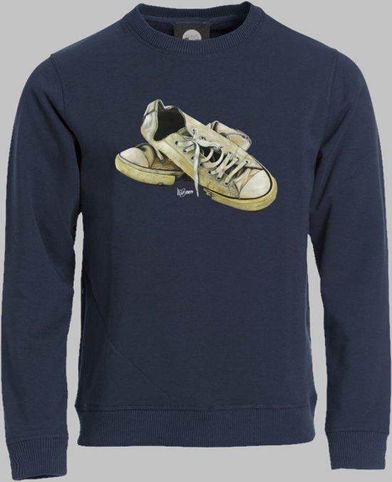 Sweater V Lage sneakers in wit 2 - Darknavy - V - L Sporttrui