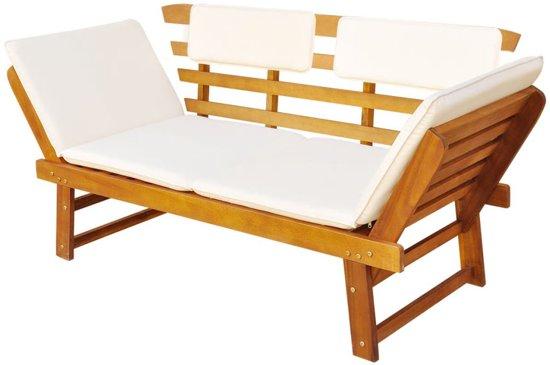 vidaXL Ligbed/tuinbank 190x66x75 cm massief acaciahout