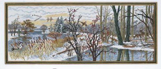 borduurpakket 12-793 winterlandschap met bosdieren