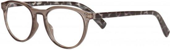 Icon Eyewear RCB350 Figo Leesbril +1.00 - Helder grijs montuur, zwart tortoise pootjes