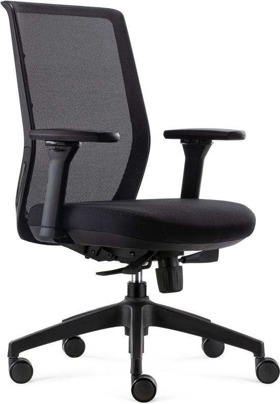 BenS 818 - Ergonomische Bureaustoel met alle instel opties- Zwart
