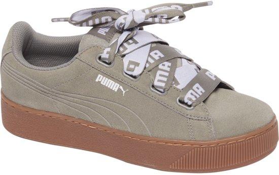9bfc1f4cbf8 Puma Vikky Platform Ribbon Sneakers - Maat 39 - Vrouwen - grijs