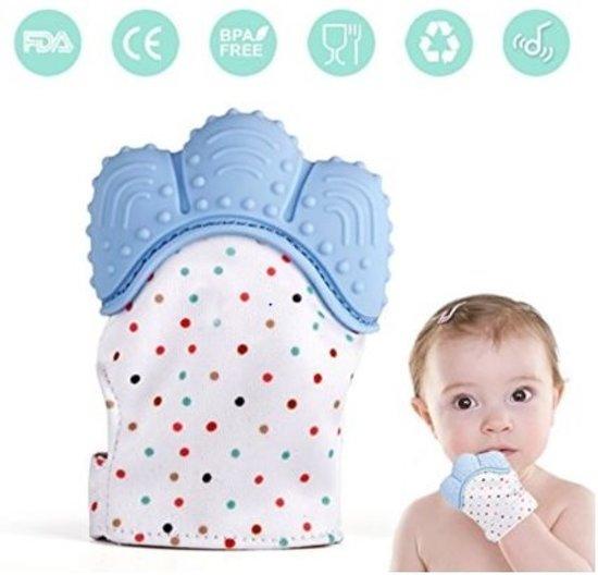 Bijthandschoen - Pastel Groen - Bijt - speelgoed - handschoen - bijtring - speelgoed - kraamcadeau