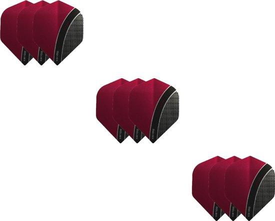3 Sets (9 stuks) XS100 Curve flights Multipack - Rood