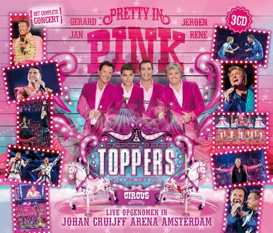 CD cover van Toppers In Concert 2018 - Pretty In Pink van Toppers