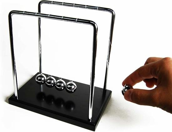 United Entertainment - Newton's Cradle - Zwart/Zilver
