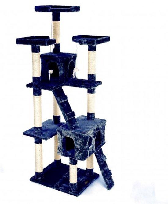 Topmast Krabpaal KIM Blauw 50 * 50 * 170 cm
