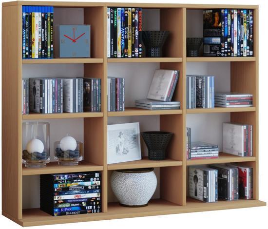 bol.com | CD DVD kast open vakkenkast Megosa mini beuken