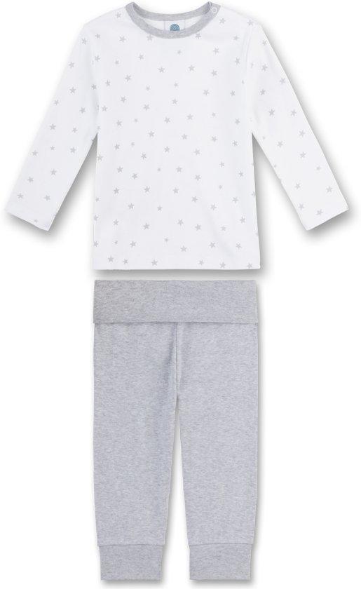 Sanetta Unisex Pyjamaset - lichtgrijs - Maat 98
