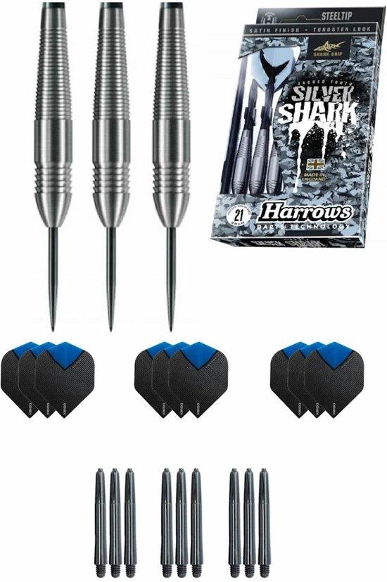 Harrows - Silver Shark 23 gram - dartpijlen - met - cadeauset - dartshafts - dartflights