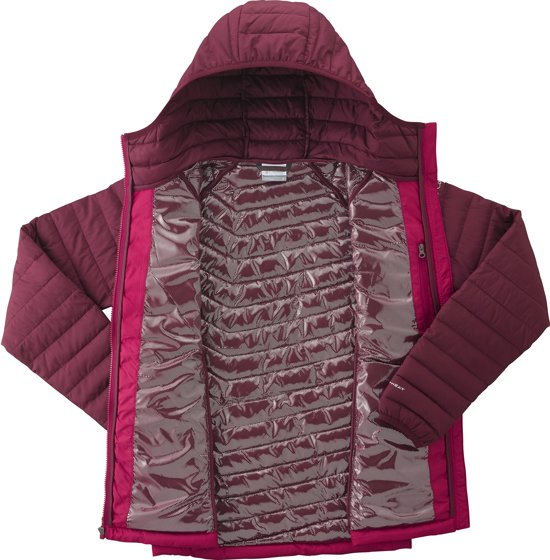 Lite Columbia Maat Powder Dames Jas S Rich Wine Hooded Pomegranate 5r5wpU8q
