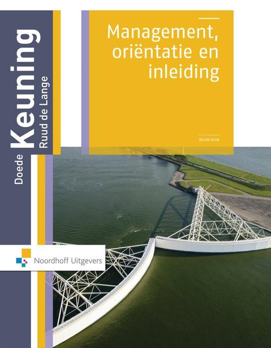 Boek cover Management / Orientatie en inleiding van Doede Keuning (Paperback)