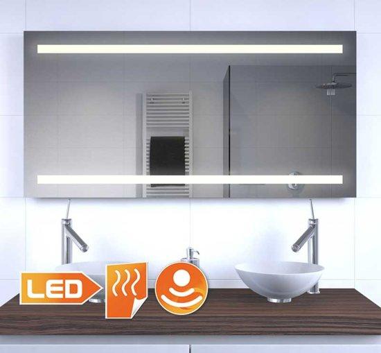 bol.com | Badkamer LED spiegel met verwarming en sensor 120×60 cm