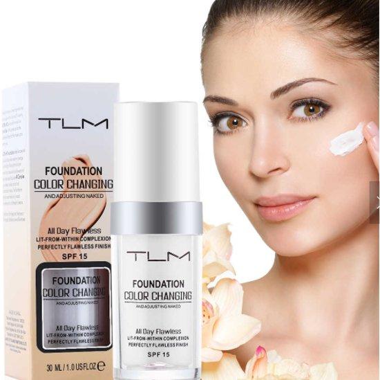 TLM Foundation® - Kleurveranderende Liquid Foundation - Flawless - Color Changing Foundation