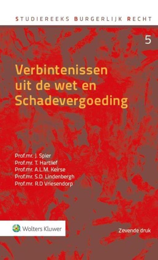 Boek cover Studiereeks burgerlijk recht 5 - Verbintenissen uit de wet en schadevergoeding van Jaap Spier (Hardcover)