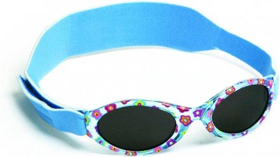 c046838761fb70 Rks Kinder Zonnebril Meisje 0-2 Jaar Bloemen Blauw