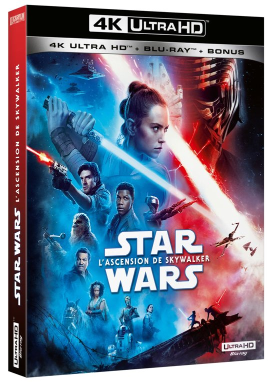 DVD cover van Star Wars Episode IX: The Rise of Skywalker (4K Ultra HD Blu-ray) (Import zonder NL) - Steelbook