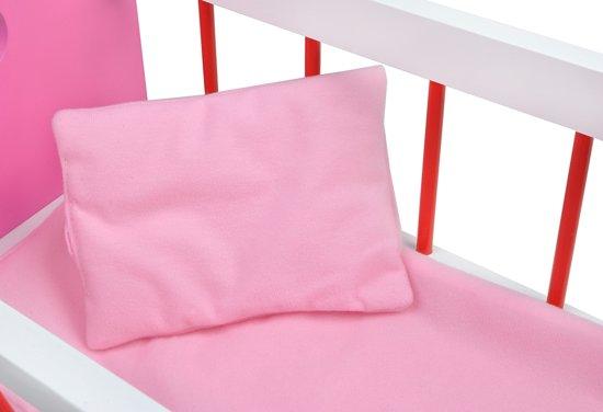 Houten Poppenwieg - Poppen Bed Schommelbedje - Poppenbed Wieg - Poppenschommelbedje - Roze