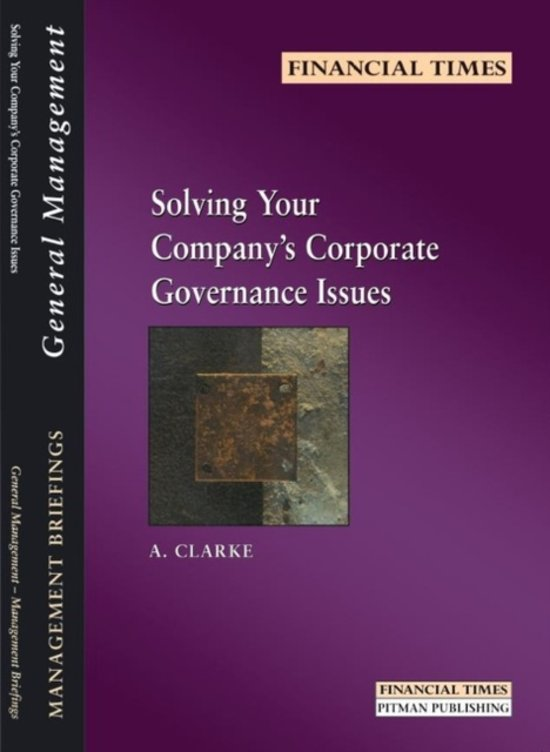 Solving Your Company's Corporate Governance Issues