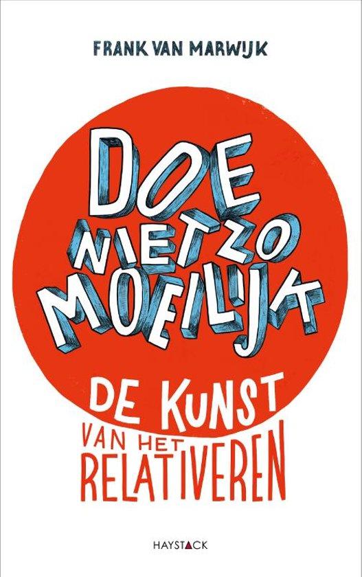 Boek cover Doe niet zo moeilijk van Frank van Marwijk (Onbekend)