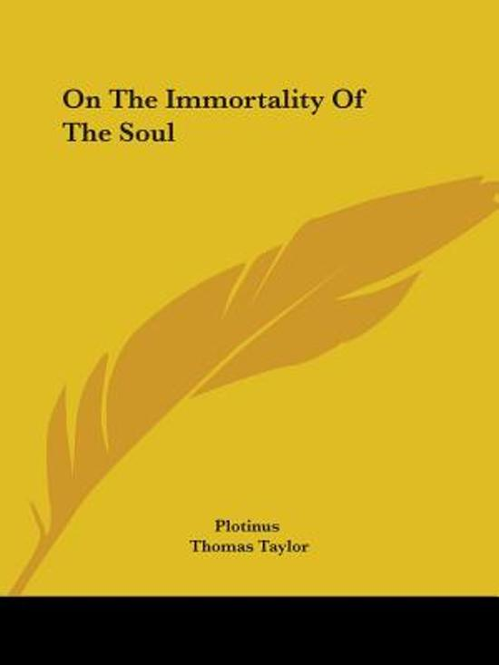 On the Immortality of the Soul