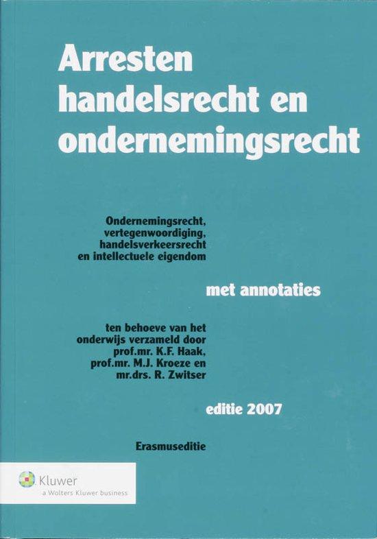 Boek cover Arresten handelsrecht en ondernemingsrecht Erasmuseditie van  (Paperback)
