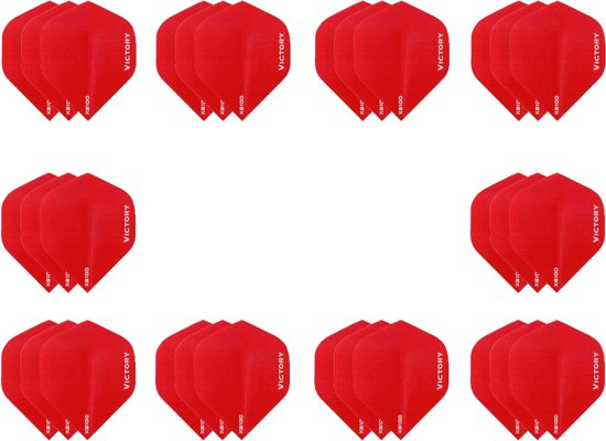 10 sets (30 stuks) Super Sterke Rode Poly XS100 - flights - dartflights