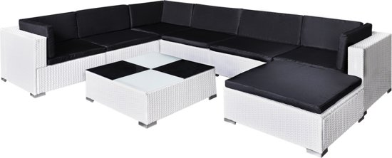 VenditaXL Poly Rattan loungeset 24-delig wit