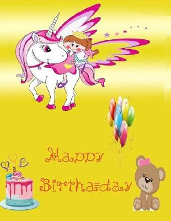 Happy Birthday ( Lined - Blank Journal ): This Journal design for kids, Girls, let them create their writing memory, drawing own cartoon, can be used