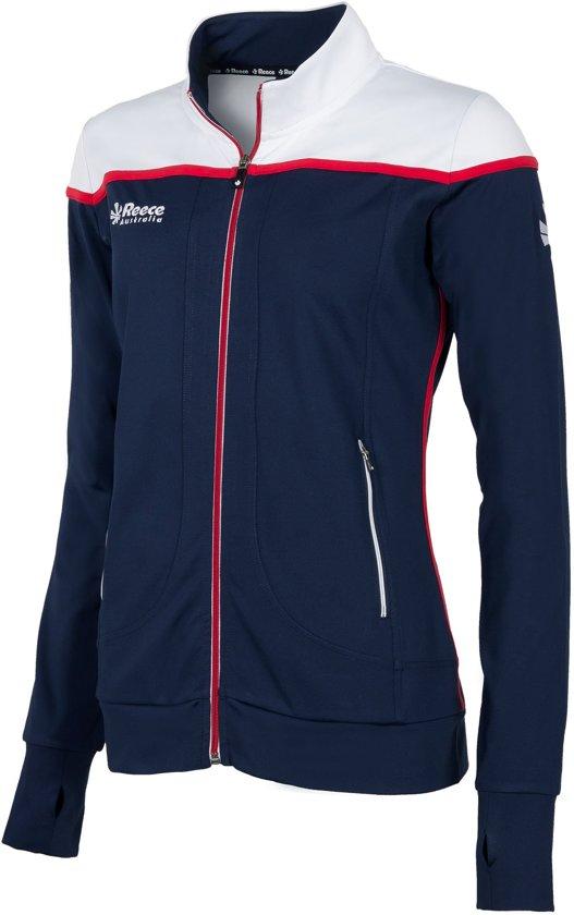 Reece Varsity Stretched Fit Jacket Fz Ladies Sportjas Dames - Navy/White