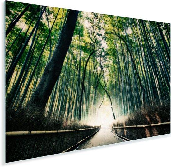 Bamboebos in Arashiyama in Japan Plexiglas 90x60 cm - Foto print op Glas (Plexiglas wanddecoratie)