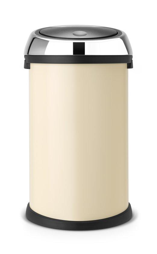 Brabantia 50 Liter Vuilnisbak.Brabantia Touch Bin Prullenbak 50 L Almond Brilliant Steel