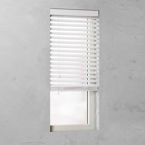 bol.com | Pure Living - Houtoptiek jaloezie - 50mm - White - 105x240 cm