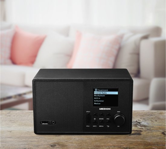 MEDION® LIFE E85040 WiFi Internet Radio (zwart)
